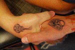 Hands-Lock-Key-Matching-Tattoos