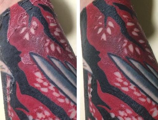 apply moisturizing to dry healed tattoo