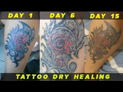 dry healing a tattoo